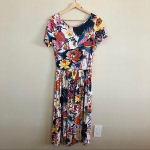 Asos Botanical Print midi dress.